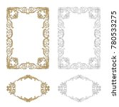 classical baroque vector set of ... | Shutterstock .eps vector #780533275