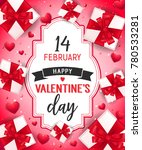 valentines day lettering with... | Shutterstock .eps vector #780533281