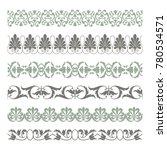 set of seamless decorative... | Shutterstock .eps vector #780534571