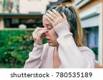 sinus ache causing very... | Shutterstock . vector #780535189