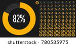 set of circle percentage... | Shutterstock .eps vector #780535975