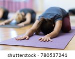 women doing yoga training... | Shutterstock . vector #780537241