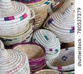handmade baskets on display fes ... | Shutterstock . vector #780537379