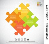 puzzle infographics   vector... | Shutterstock .eps vector #780537595