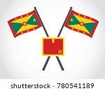 grenada emblem box delivery   Shutterstock .eps vector #780541189