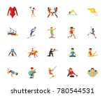sport icon set | Shutterstock .eps vector #780544531
