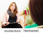 woman seeing a psychotherapist | Shutterstock . vector #780546985