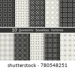 set of seamless geometric...   Shutterstock .eps vector #780548251