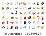 big set of isometric volumetric ... | Shutterstock . vector #780549817