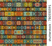 colorful vintage seamless... | Shutterstock .eps vector #780550591