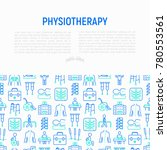 physiotherapy concept with thin ...   Shutterstock .eps vector #780553561