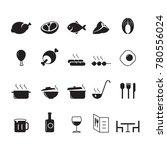 icon food  vector | Shutterstock .eps vector #780556024