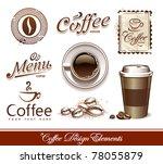 vector set of coffee design...   Shutterstock .eps vector #78055879