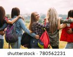 friendly hugs admire nature... | Shutterstock . vector #780562231