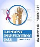 leprosy prevention day on... | Shutterstock .eps vector #780564859