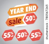 year end sale 50  55  off... | Shutterstock .eps vector #780567265