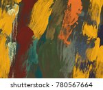 oil painting on canvas handmade.... | Shutterstock . vector #780567664