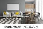 interior modern design room 3d... | Shutterstock . vector #780569971