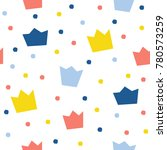 abstract crown seamless pattern ... | Shutterstock . vector #780573259