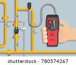 lpg ngv gas natural leakage... | Shutterstock .eps vector #780574267