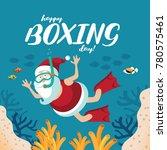 illustration of cartoon santa... | Shutterstock .eps vector #780575461