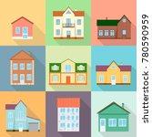 set of houses  residential... | Shutterstock .eps vector #780590959