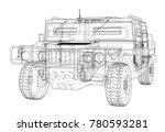combat car. vector rendering of ... | Shutterstock .eps vector #780593281