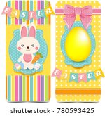 happy easter banners. cute... | Shutterstock . vector #780593425