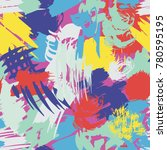 abstract vector colorful... | Shutterstock .eps vector #780595195