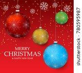 christmas light vector... | Shutterstock .eps vector #780595987