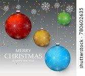 christmas light vector...   Shutterstock .eps vector #780602635