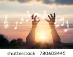 abstract woman hands touching... | Shutterstock . vector #780603445