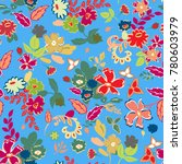 floral seamless pattern with... | Shutterstock .eps vector #780603979