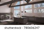 modern kitchen in classic villa ... | Shutterstock . vector #780606247