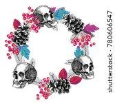 abstract circular frame of...   Shutterstock .eps vector #780606547