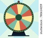 fortune wheel  roulette game... | Shutterstock .eps vector #780614059