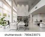 modern office building interior.... | Shutterstock . vector #780623071