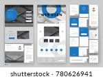 website template design with... | Shutterstock .eps vector #780626941