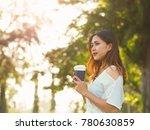 happy beautiful asian woman in...   Shutterstock . vector #780630859