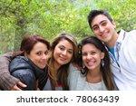 4 friends smiling together | Shutterstock . vector #78063439