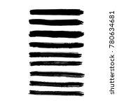 brush stroke set. texture. | Shutterstock .eps vector #780634681