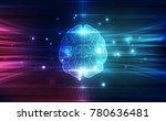 vector abstract human brain on... | Shutterstock .eps vector #780636481