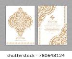 golden vintage greeting card on ... | Shutterstock .eps vector #780648124