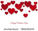 valentines day  background with ... | Shutterstock .eps vector #780650245
