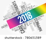 2018 word cloud collage  health ... | Shutterstock . vector #780651589
