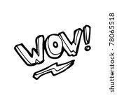 wow cartoon | Shutterstock .eps vector #78065518