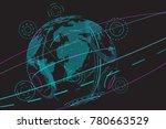 global network isolated on... | Shutterstock .eps vector #780663529