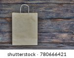 mock up of brown craft paper... | Shutterstock . vector #780666421