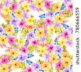 floral  botanical seamless... | Shutterstock . vector #780666559