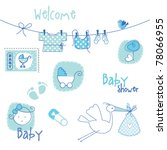 baby shower design elements | Shutterstock .eps vector #78066955
